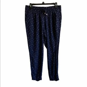 Old Navy Crepe Soft Pants Navy Print Size M